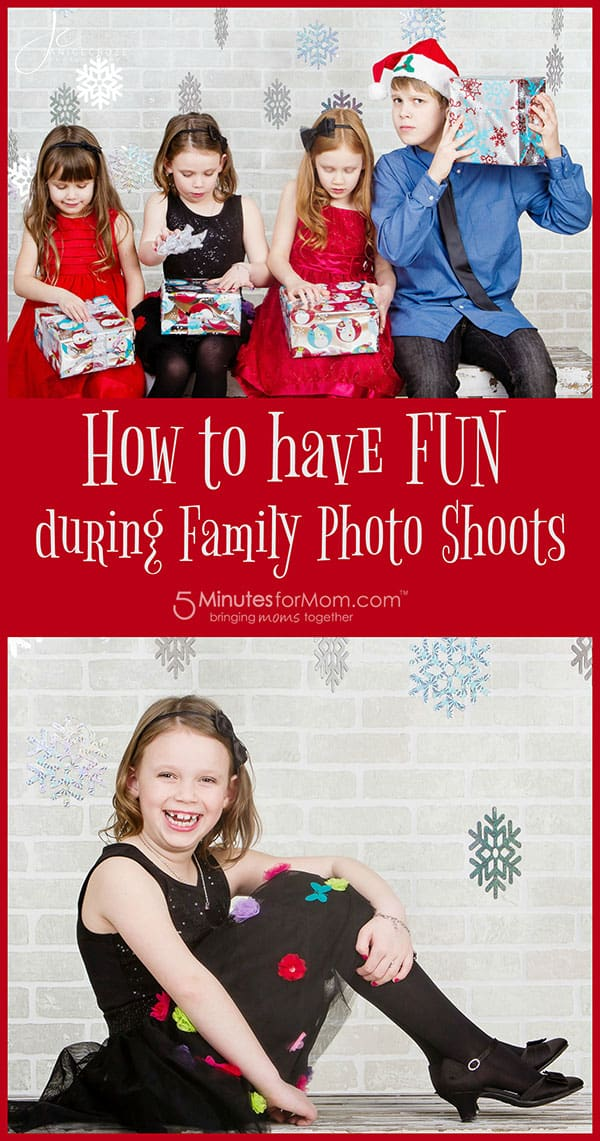 Fun family photo shoots with kids