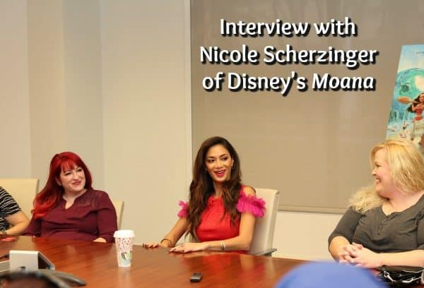 Interview with Nicole Scherzinger – #MoanaEvent