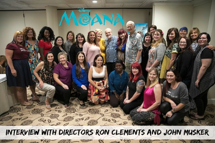 Ron Clements and John Musker - Directors of Moana - Blogger Interview - Group Photo