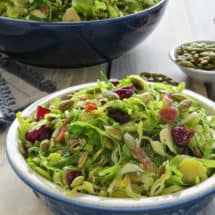Shaved Brussels Sprouts Salad with Dijon Vinaigrette