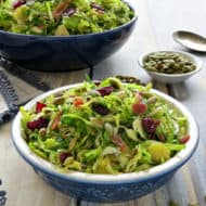 Shaved Brussels Sprouts Salad with Dijon Vinaigrette Recipe