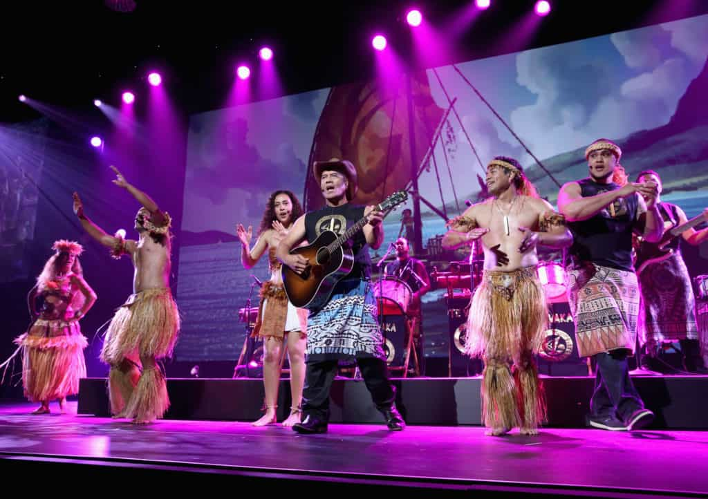Opetaia Foa'i and music group Te Vaka (Photo by Jesse Grant/Getty Images for Disney)