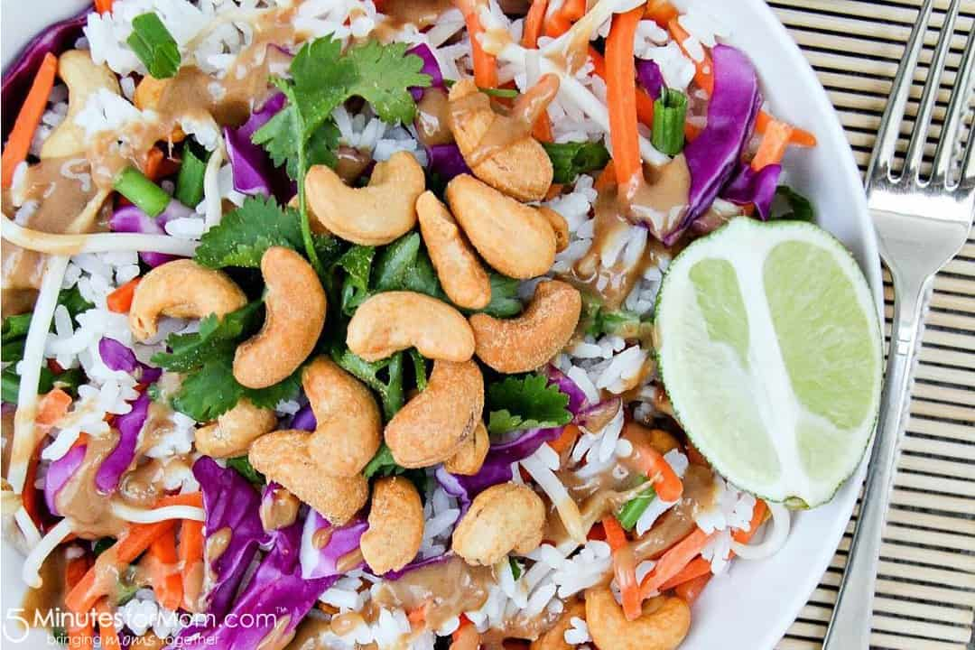 Thai Cashew Rice Salad