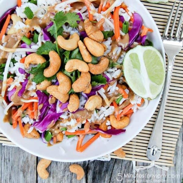 Crunchy Thai Cashew Rice Salad