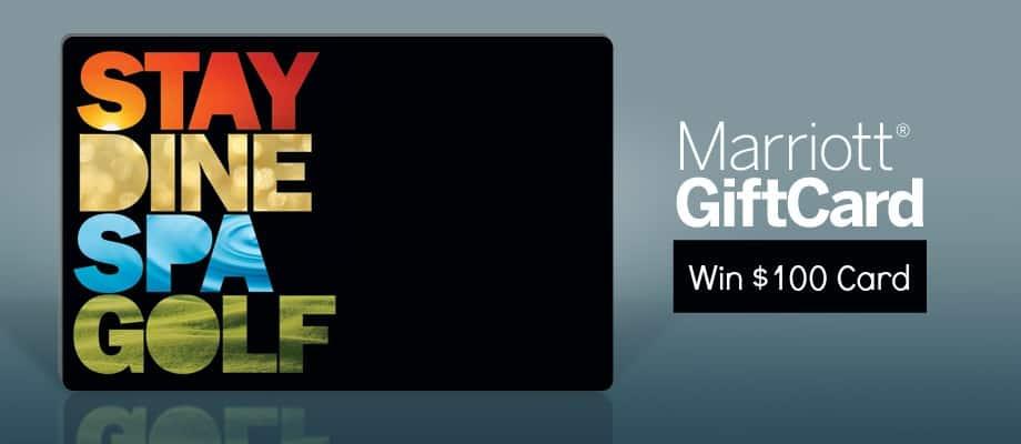 Win 100 Marriott Gift Card
