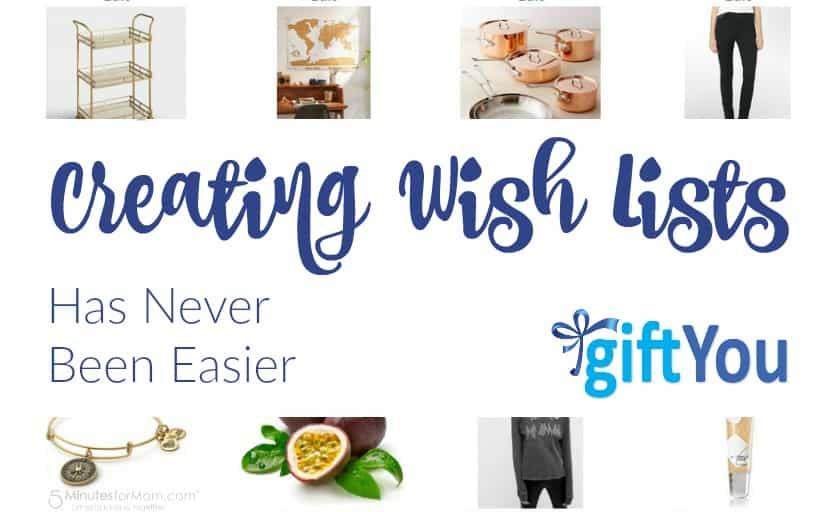 Creating wish lists has never been easier