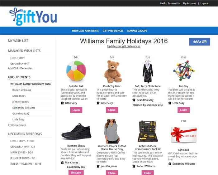 How to create a wish list using GiftYou