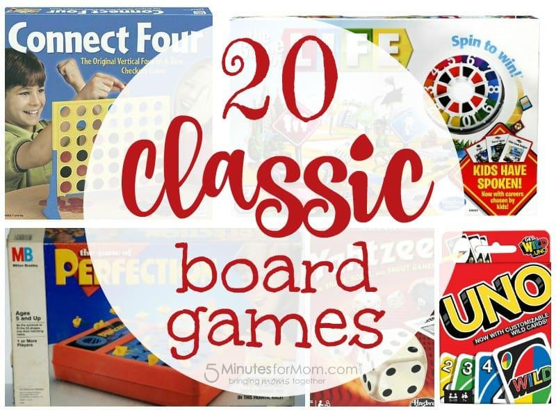 20 classic board games