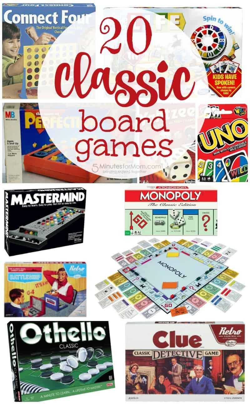 Top 20 classic board games