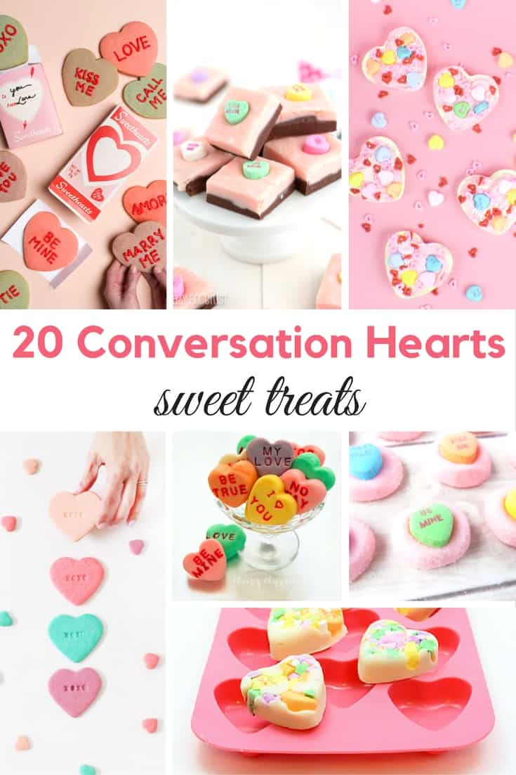 20 Conversation Hearts Sweet Treats