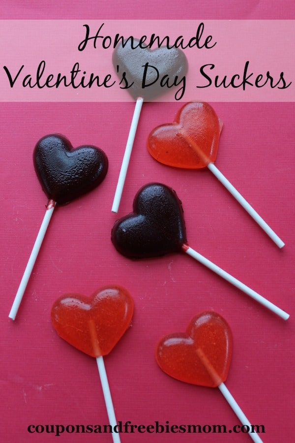 Homemade Valentine's Heart Suckers from Coupons and Freebies Mom