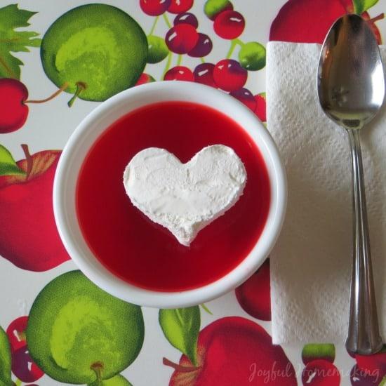 Jello Cool Whip Heart from Joyful Homemaking