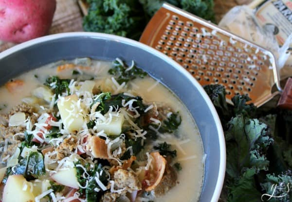 Skinny Zuppa Tuscana Soup from Grounded and Surrounded