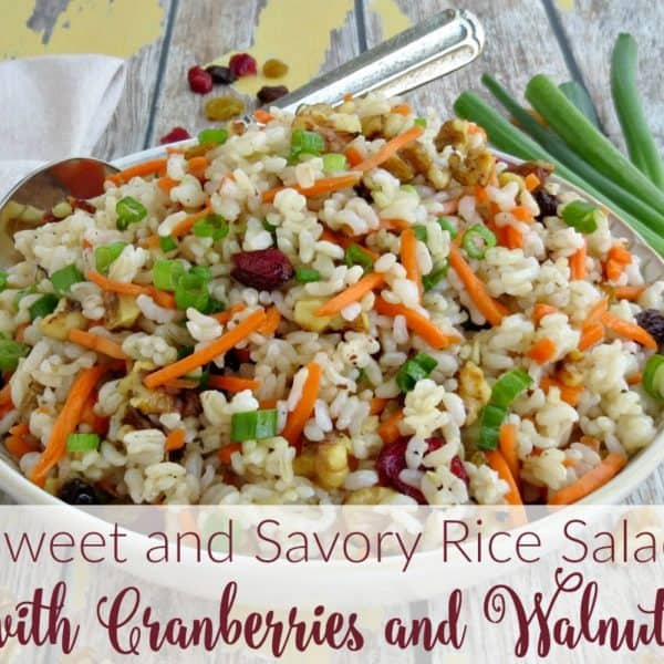 Sweet and Savory Rice Salad with Cranberries and Walnuts Recipe