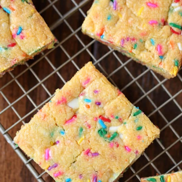 Confetti Bars – Easy to Make Cake Mix Cookie Bars