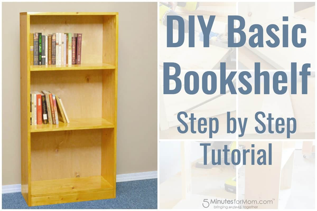 Ordinaire DIY Basic Bookshelf Step By Step Tutorial