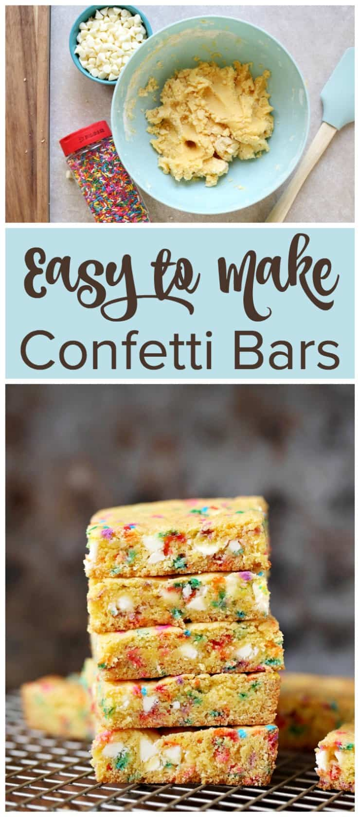 Easy to Make Confetti Bars Recipe
