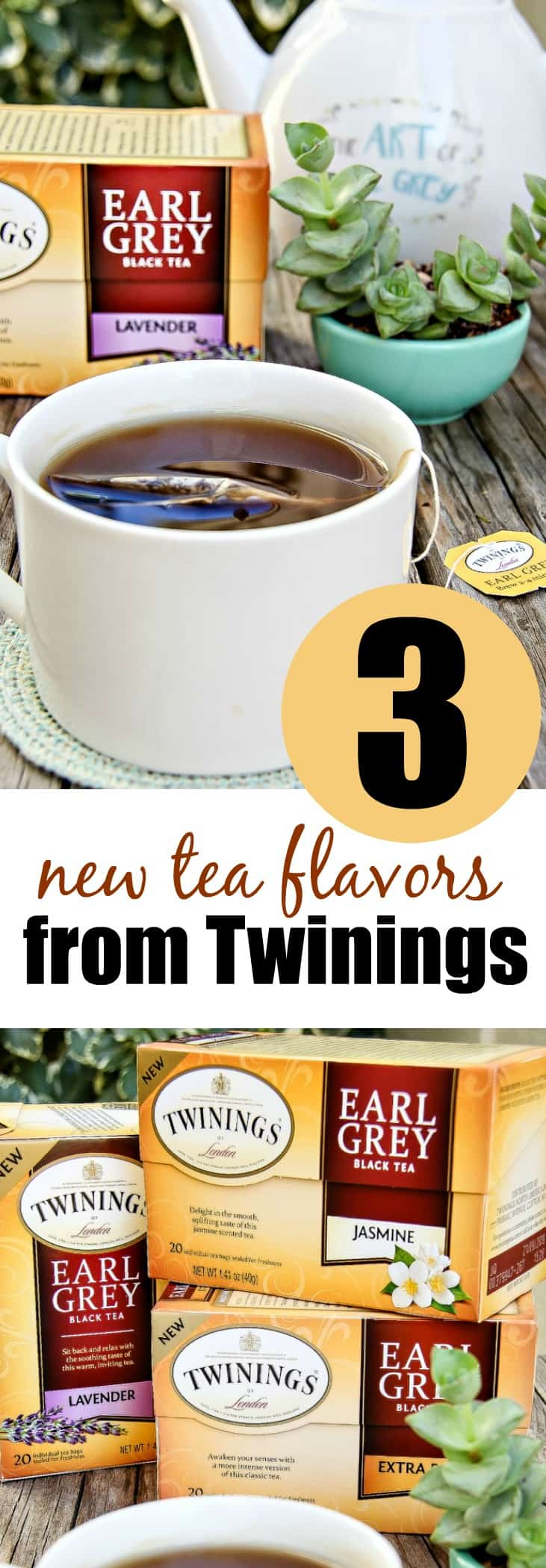 Enjoy the 3 new Earl Grey tea flavors from Twinings including Jasmine, Lavender, and Extra Bold