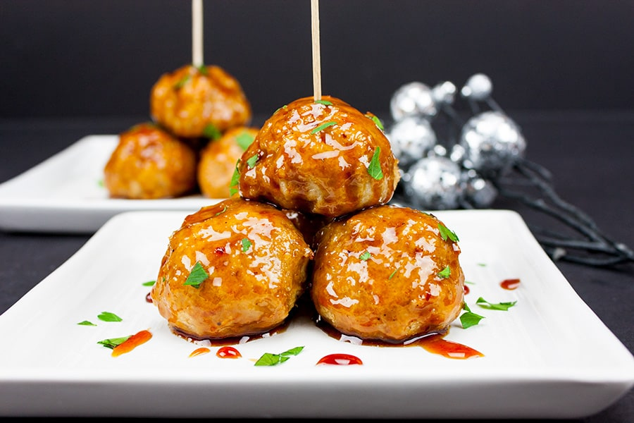 Firecracker Chicken Meatballs from Don't Sweat the Recipe