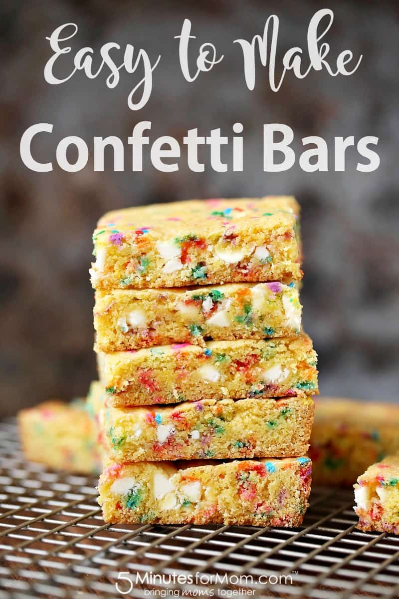 How to Make Confetti Bars - Easy Recipe