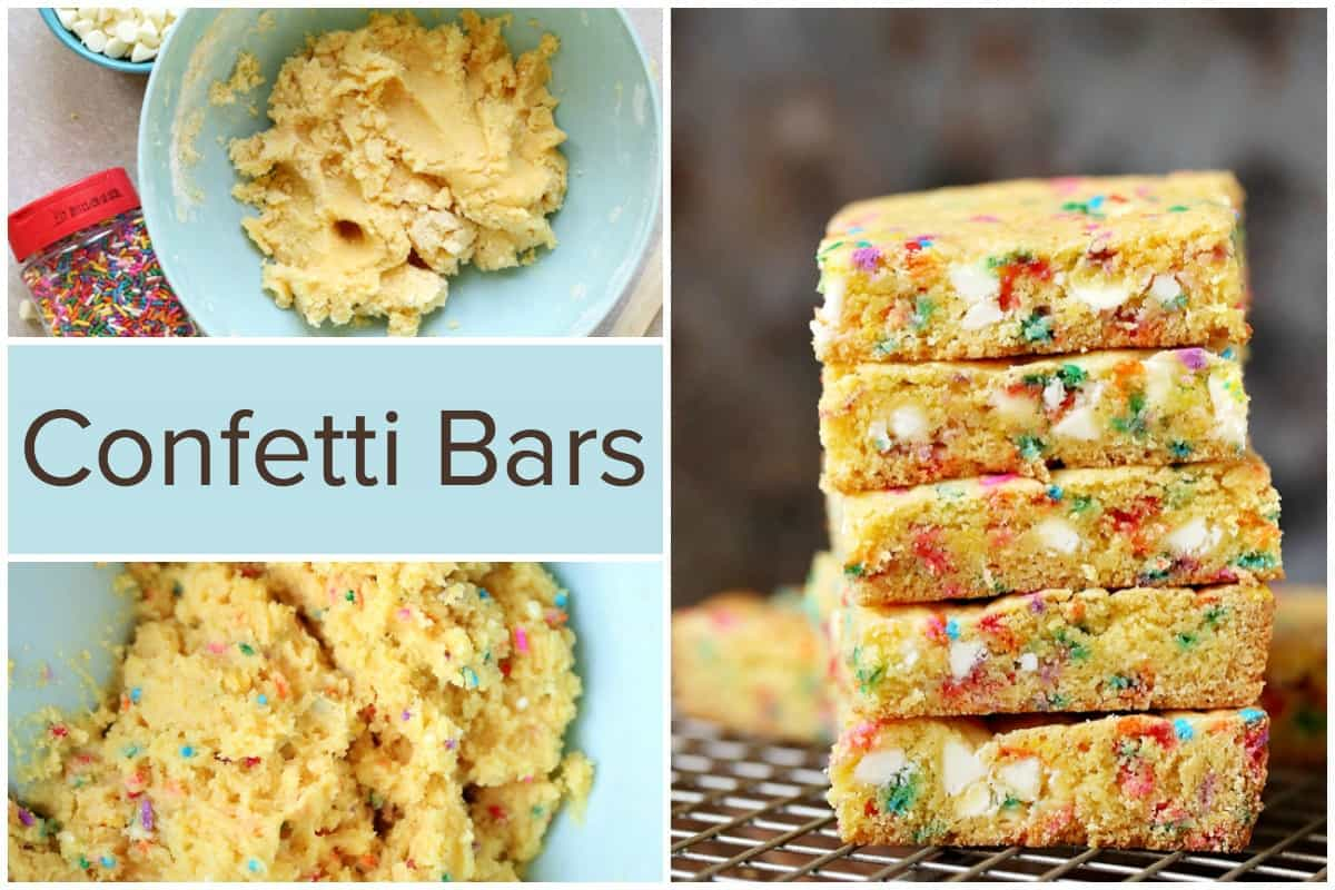 Confetti Bars - Easy to Make Cake Mix Cookie Bars