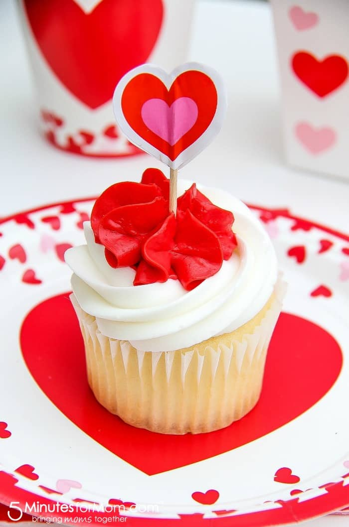 The perfect Valentine's Day cupcake for classroom parties
