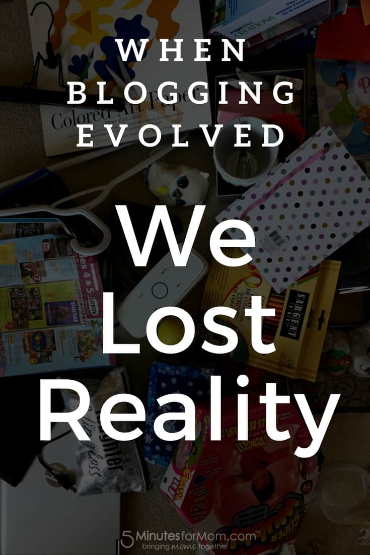 When blogging evolved we lost reality - The truth about my life