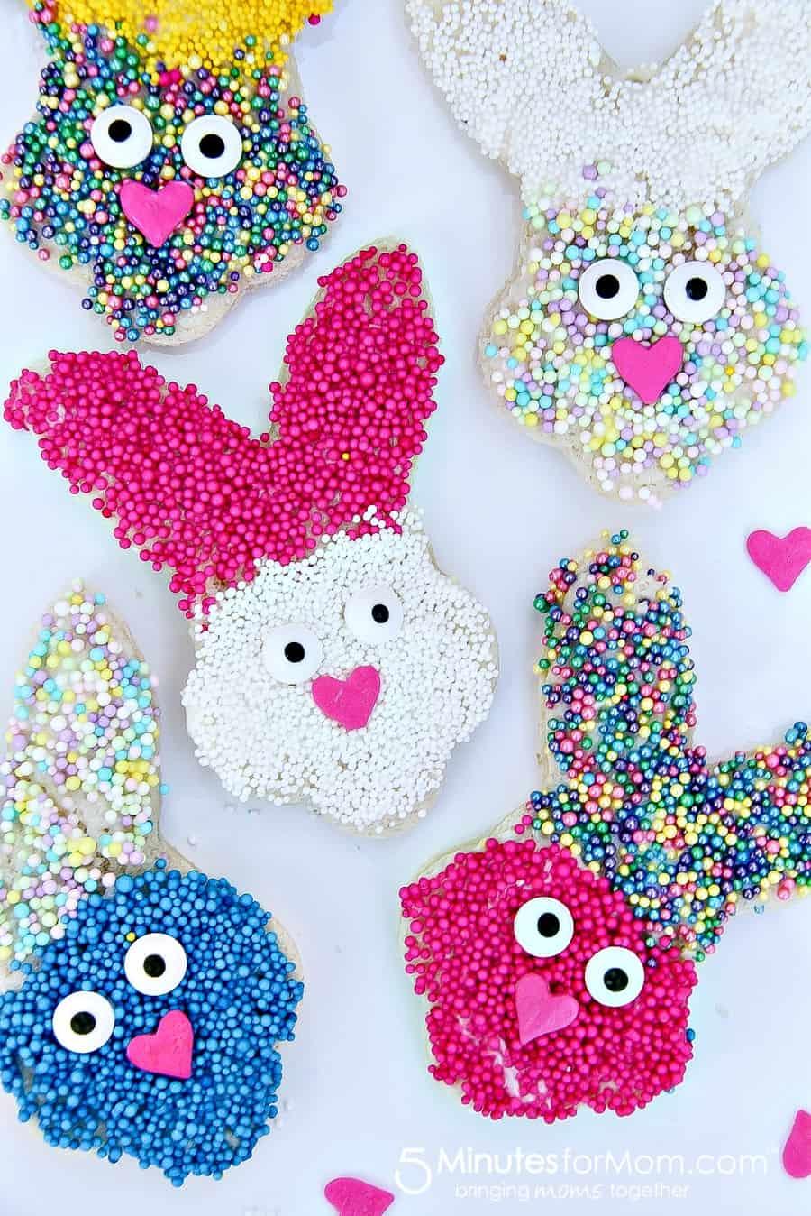 Adorable bunny fairy bread spring treats for kids