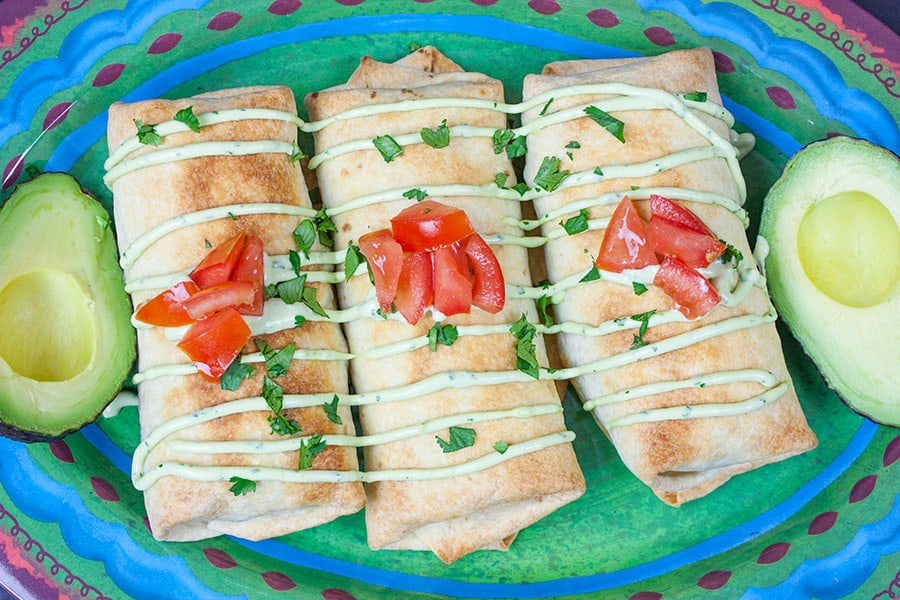 Baked Chicken Chimichangas from Don't Sweat the Recipe