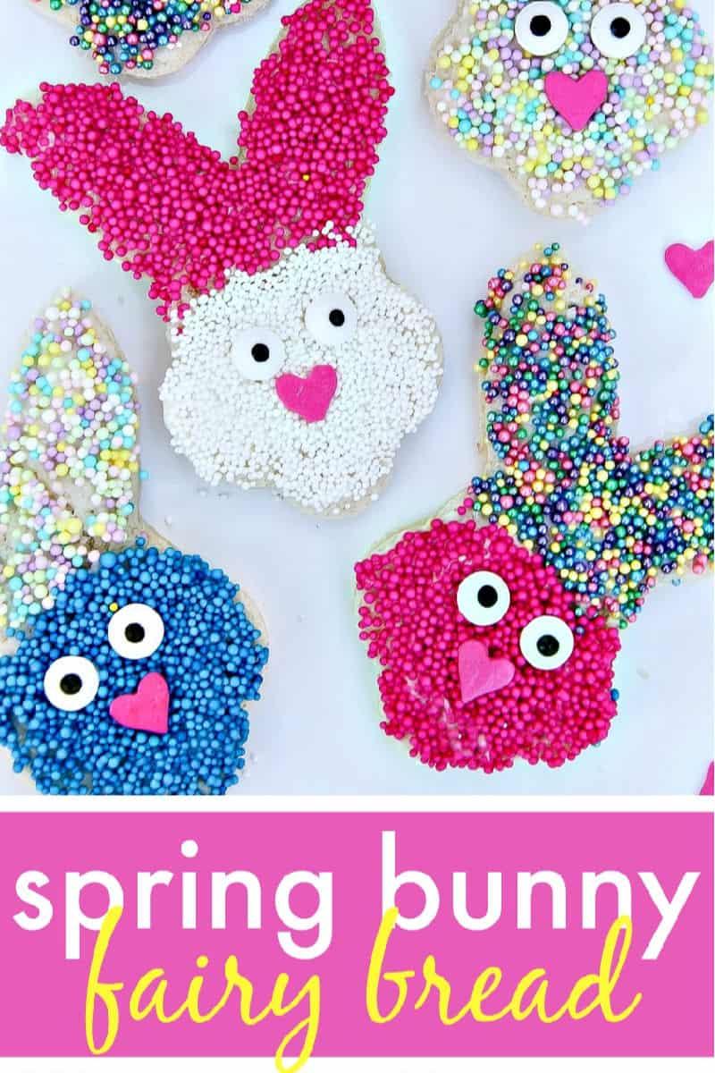 Bunny Treats Easter Fairy Bread - Easy Treat for Kids