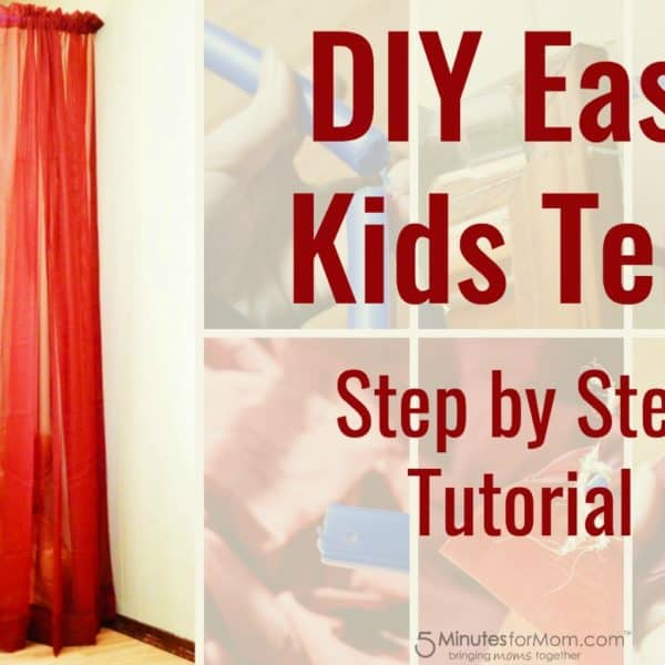 Easy DIY Kids Tent or Canopy – How To Build A Kids Tent