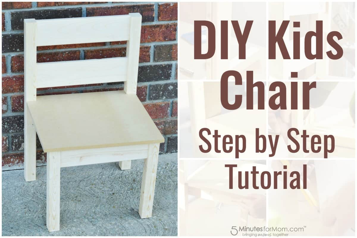 Diy Kids Chair How To Build A Kids Chair For Beginners