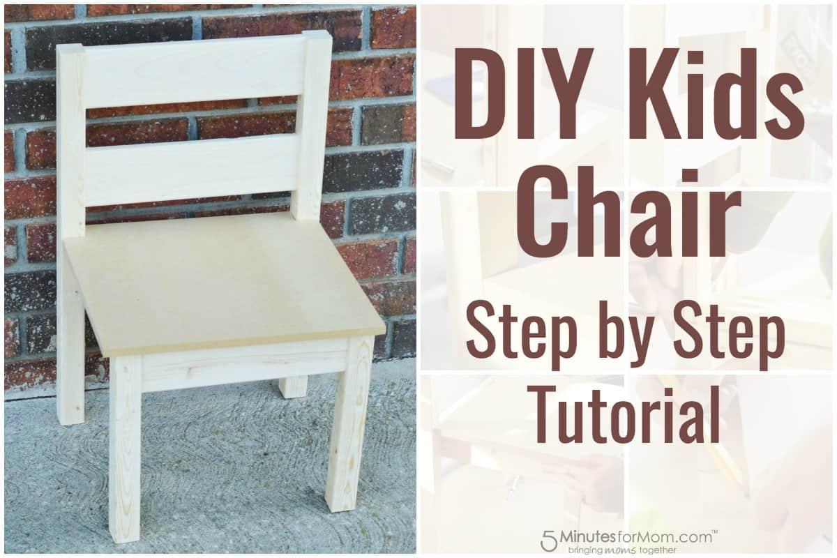 Diy Kids Chair Step By Tutorial