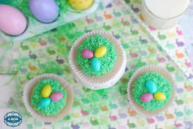 Easter Egg Grass Cupcakes from More than a Mom of Three