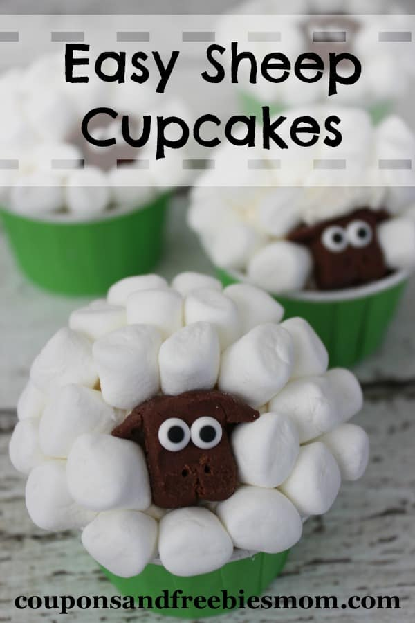 Easy Sheep Cupcakes from Coupons and Freebies Mom