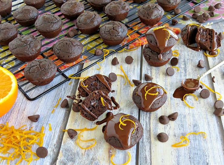 Gluten Free Dark Chocolate Orange Brownie Bites
