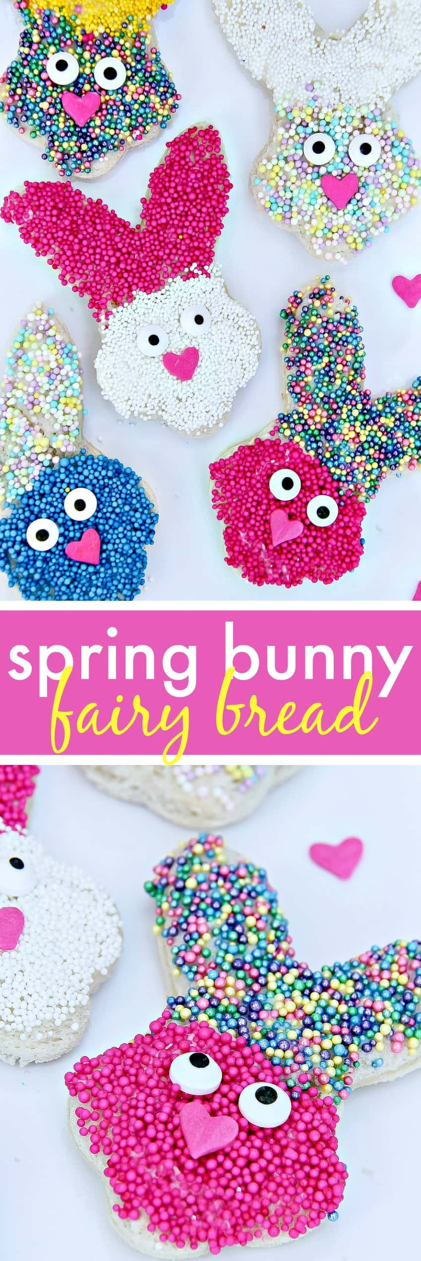 How to make spring bunny fairy bread treats for kids