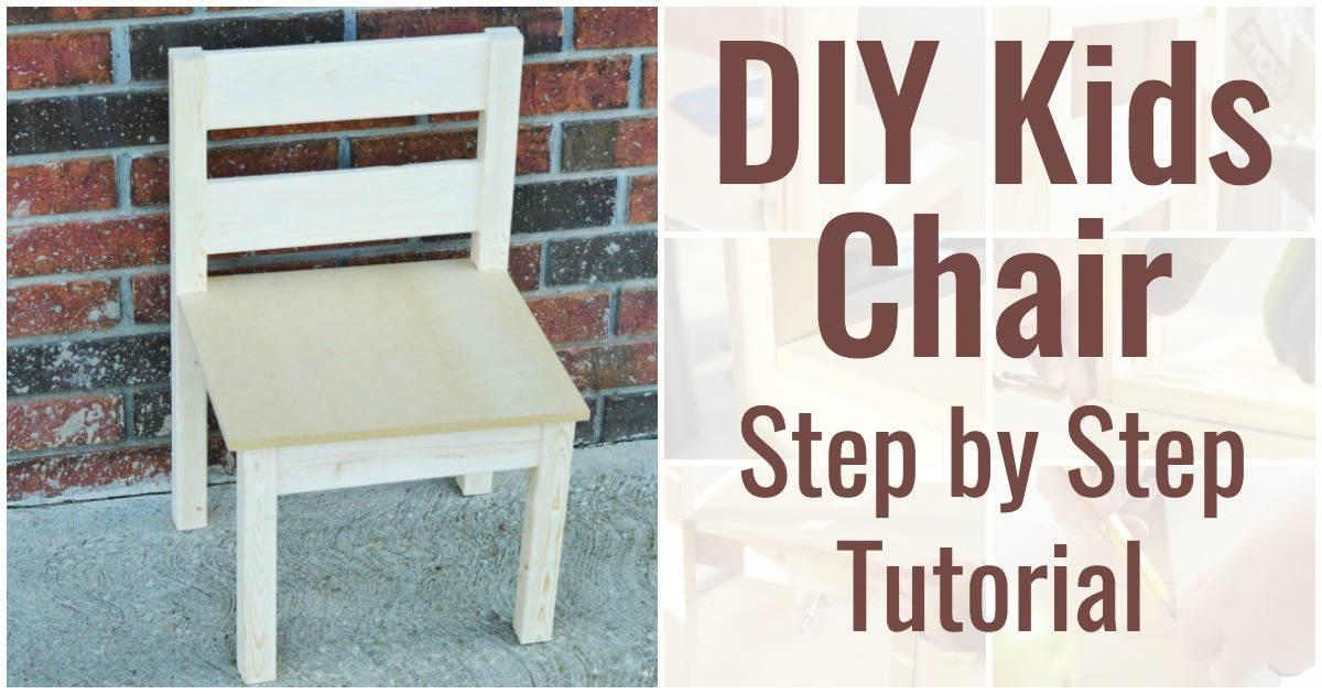 DIY Kids Chair Step by Step Tutorial