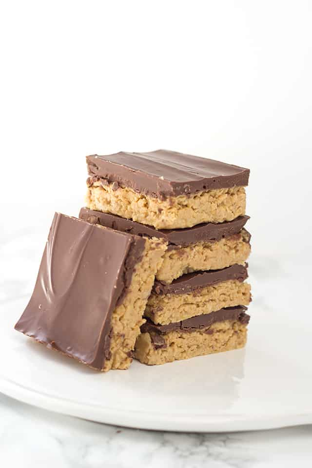 No Bake Peanut Butter Potato Chip Bars from Cookie Dough and Oven Mitt