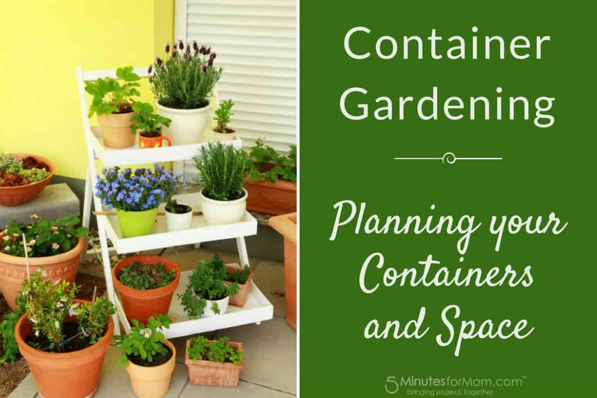 Container Gardening - Planning Containers and Space