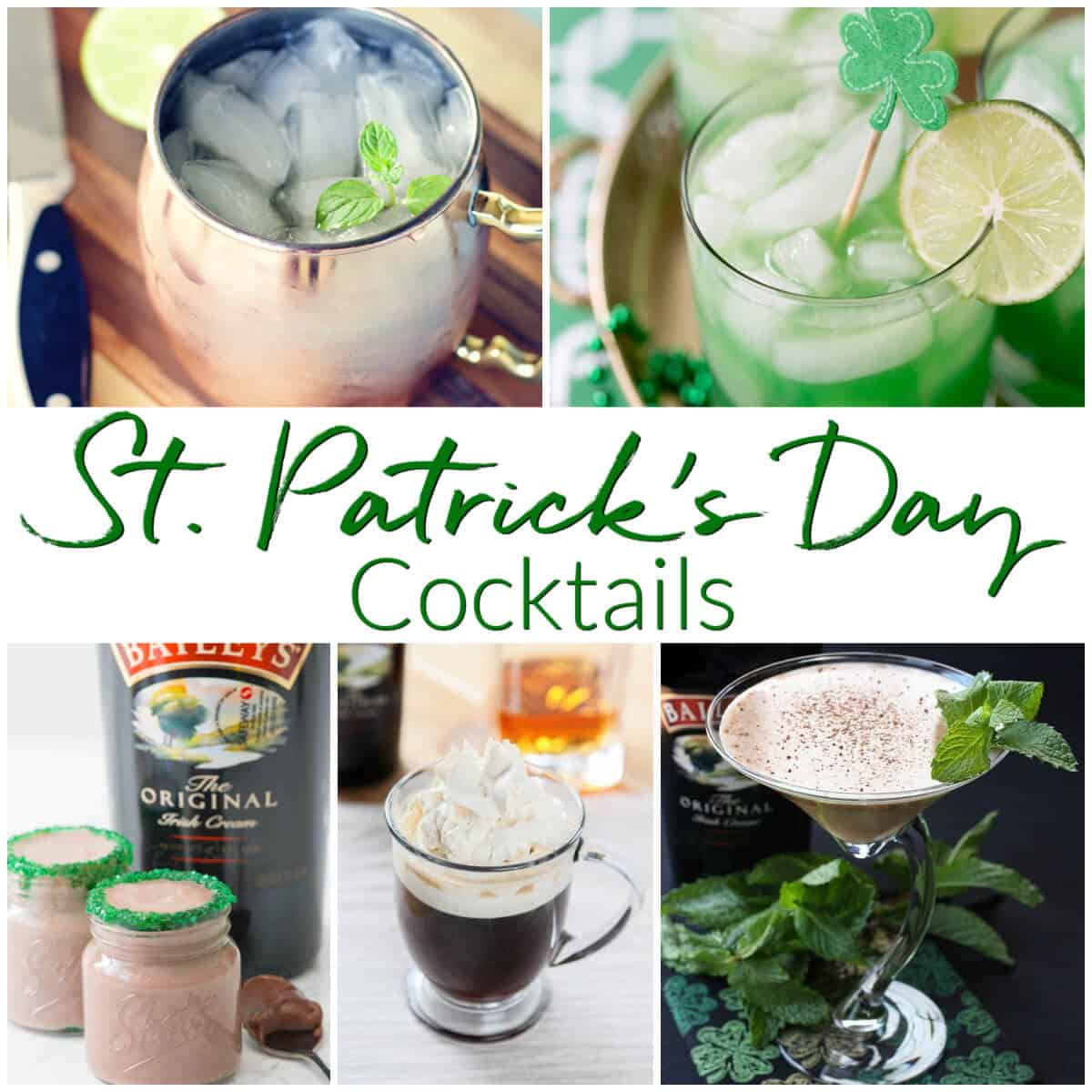 St Patricks Day Cocktails Collection