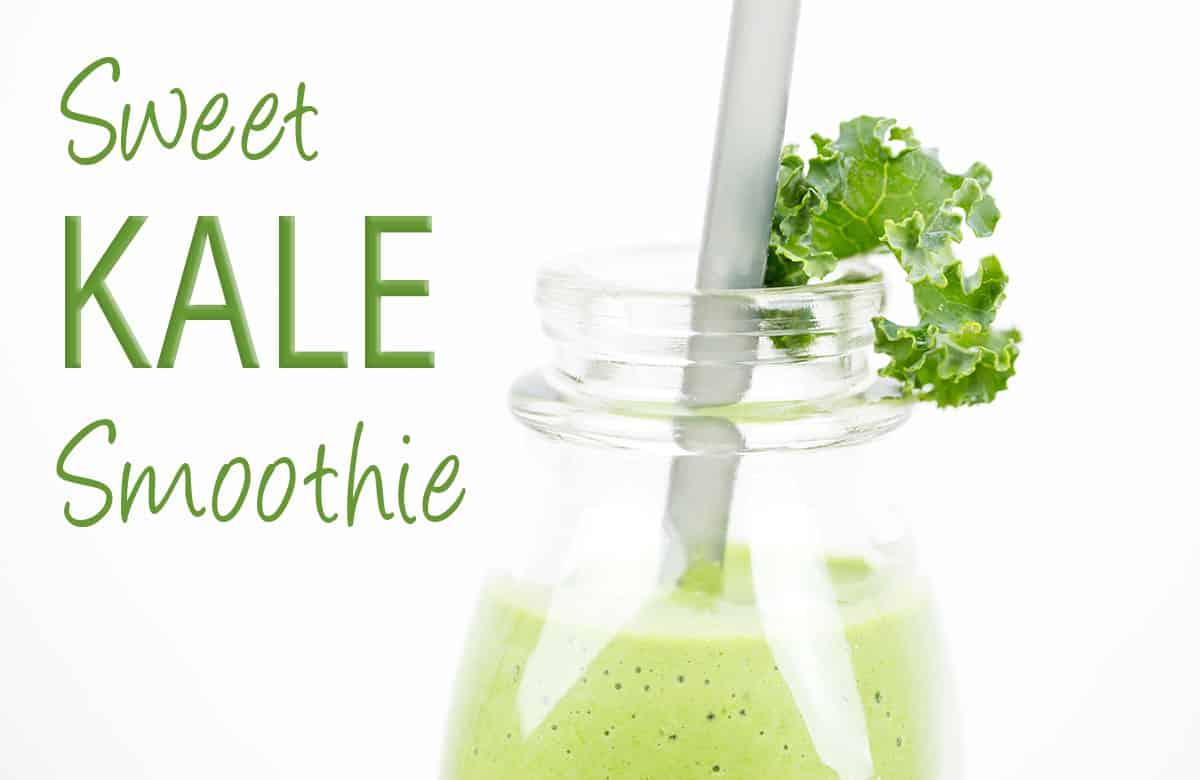 sweet kale smoothie