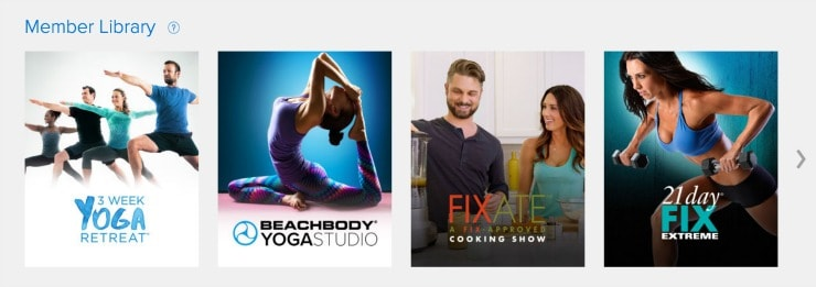 Beachbody on Demand - Member Library