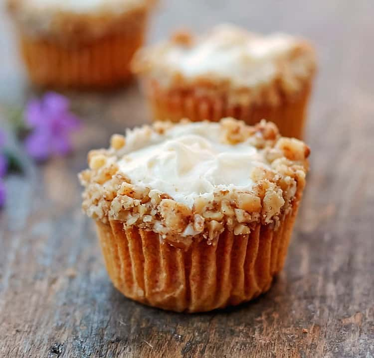 Carrot Pineapple Cupcakes from Bunny's Warm Oven