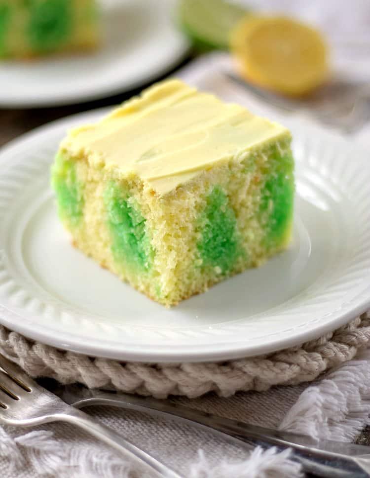 Lemon Lime Poke Cake from Bunny's Warm Oven