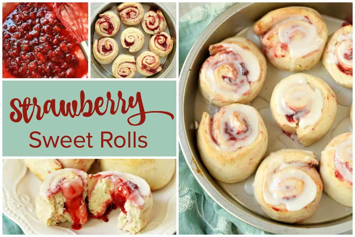 Super Easy Strawberry Sweet Rolls Recipe