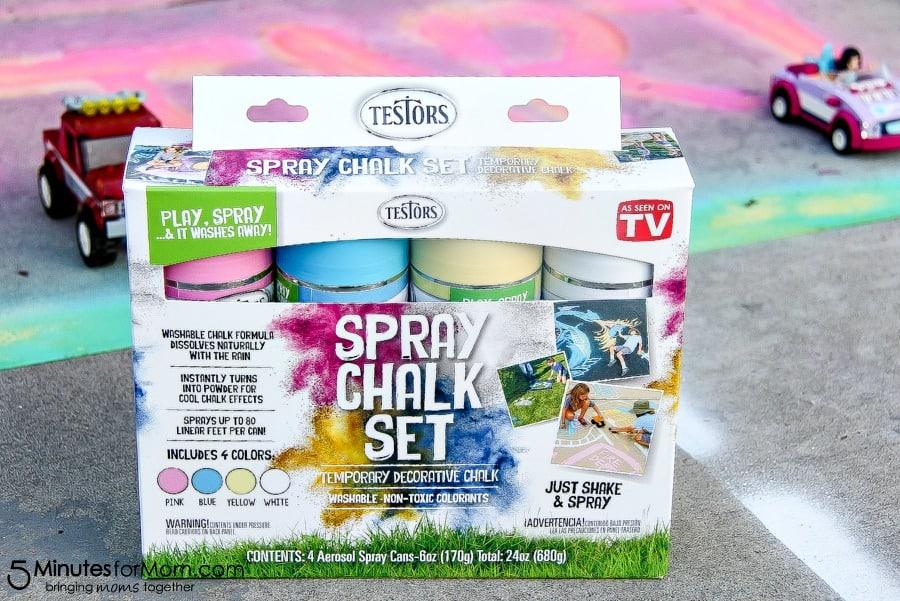 Testors Spray Chalk outdoor fun