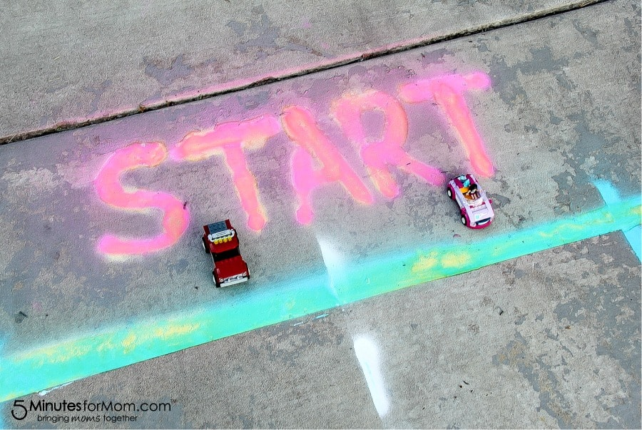 how to create a race track using spray chalk