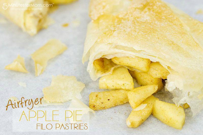 Airfryer Apple Pie Filo Pastries