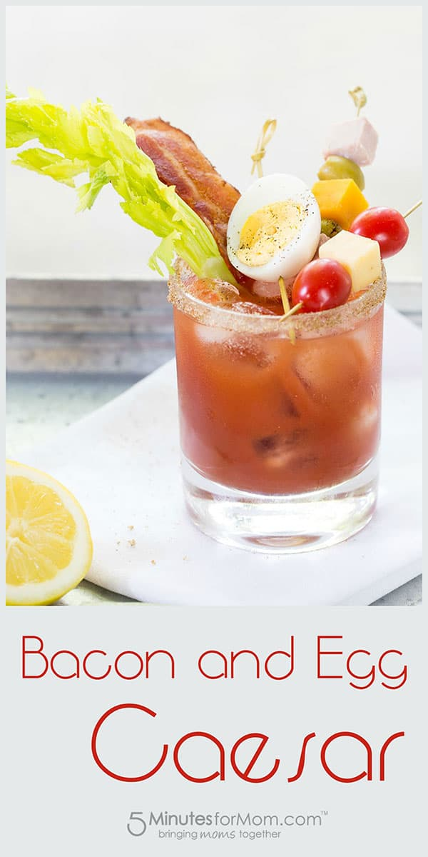 Bacon and Egg Caesar Cocktail